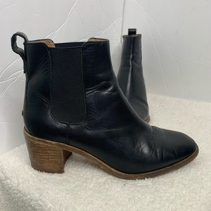 Madewell Regan Black Leather Bootie 7.5
